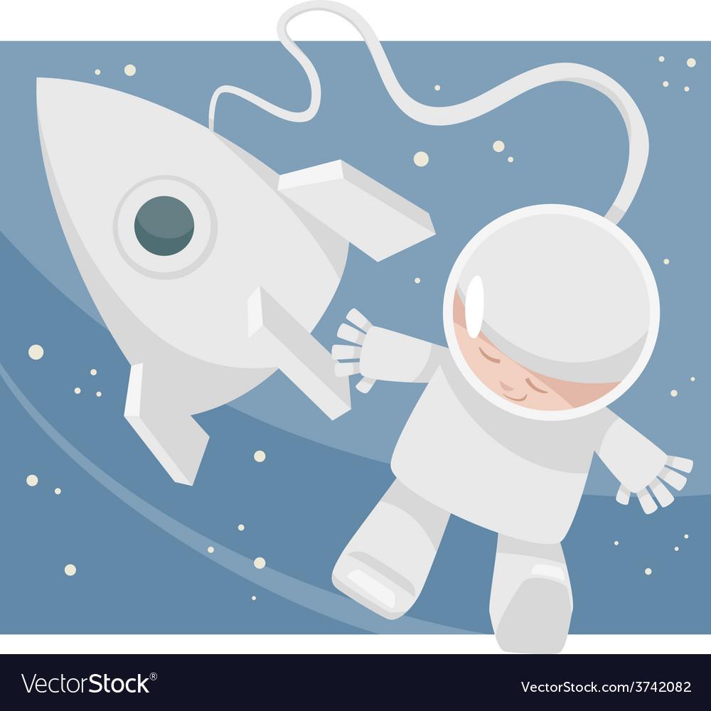 Little spaceman cartoon vector | Price: 1 Credit (USD $1)