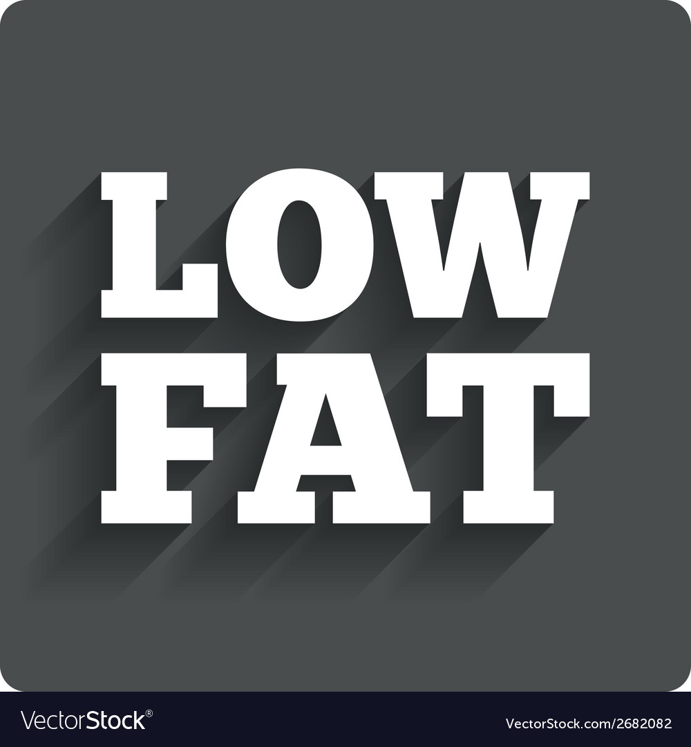 Low fat sign icon salt sugar food symbol vector | Price: 1 Credit (USD $1)