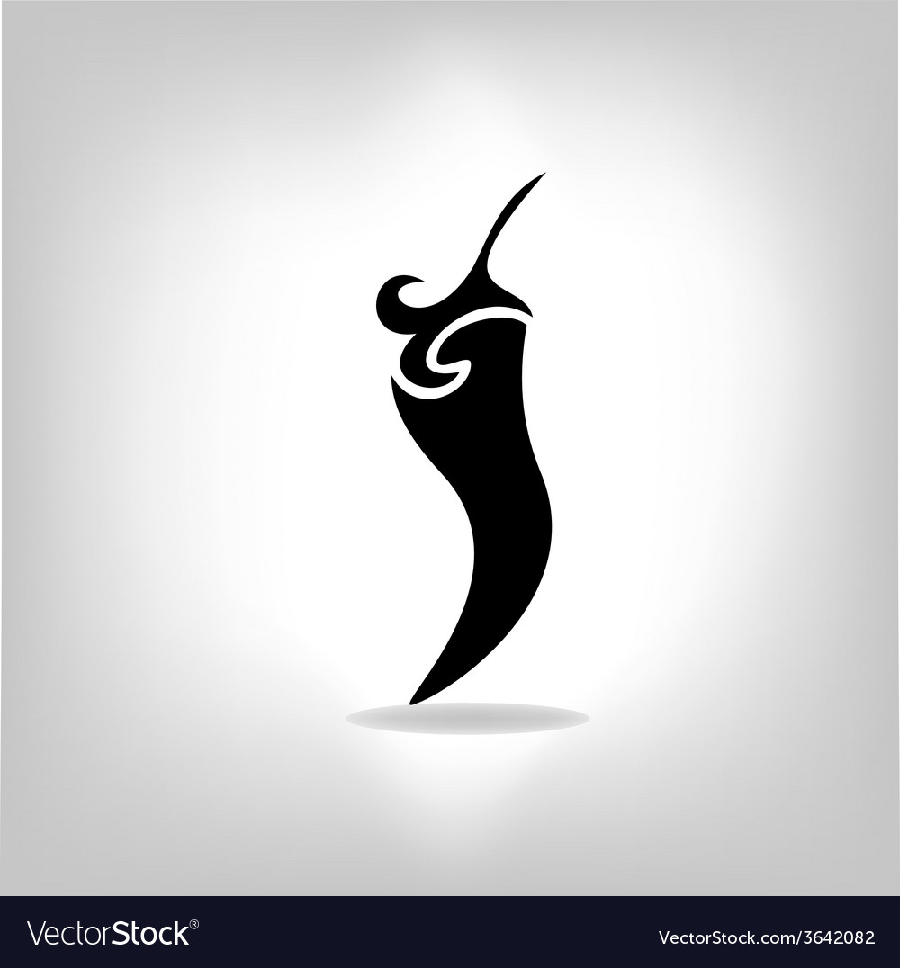 Pepper isolated on light background vector | Price: 1 Credit (USD $1)