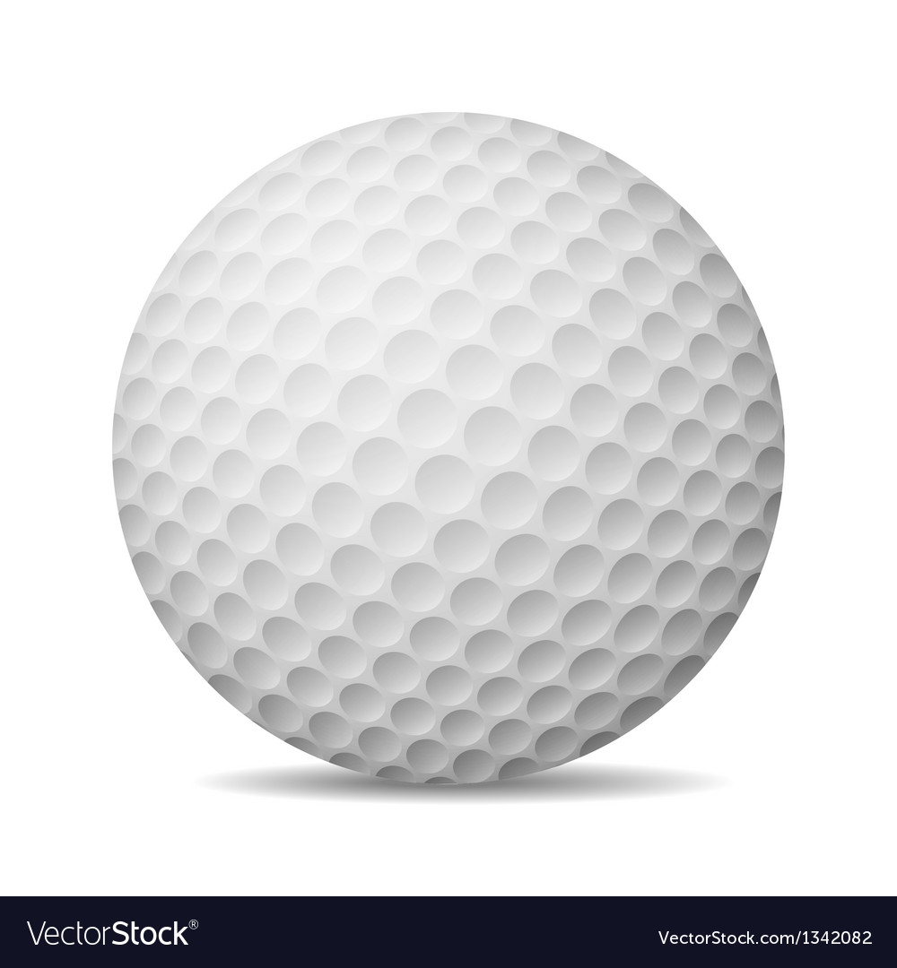 Realistic golf ball isolated on white vector | Price: 1 Credit (USD $1)