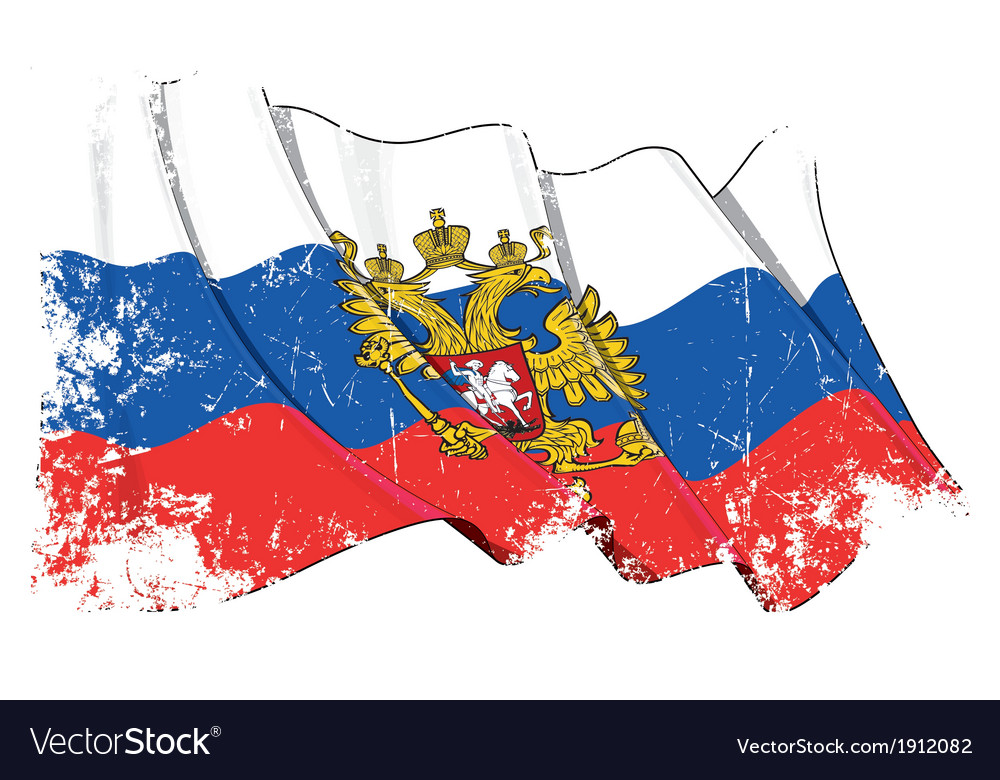 Russia state flag grunge vector | Price: 1 Credit (USD $1)