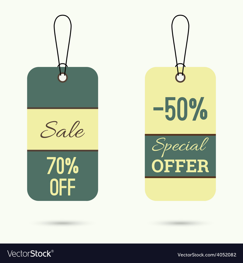 Set price tag vector | Price: 1 Credit (USD $1)