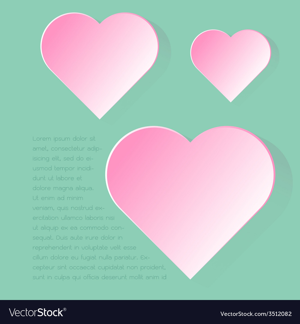 Simply infographic pink heart symbol with long vector | Price: 1 Credit (USD $1)
