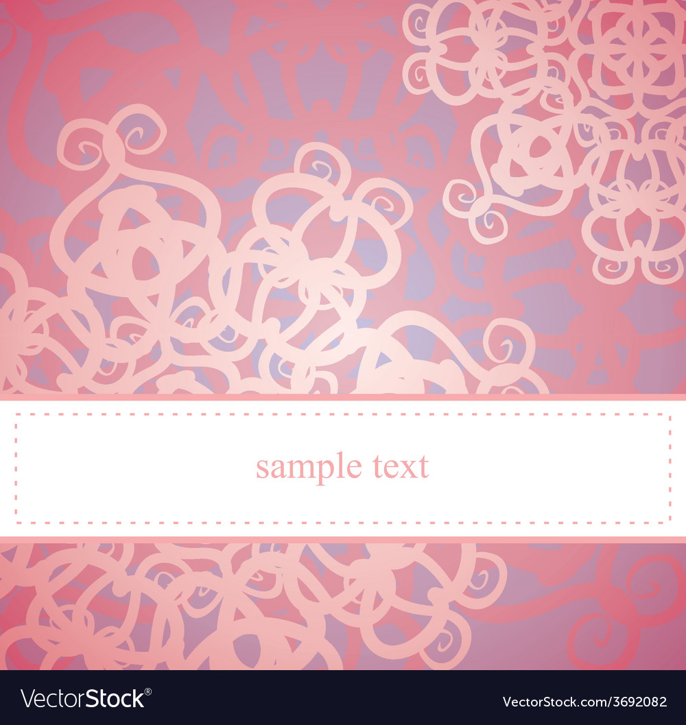 Sweet pink floral card or invitation vector | Price: 1 Credit (USD $1)