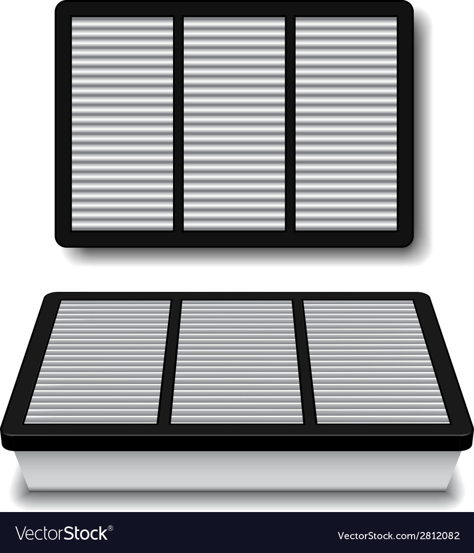 White air filter vector | Price: 1 Credit (USD $1)