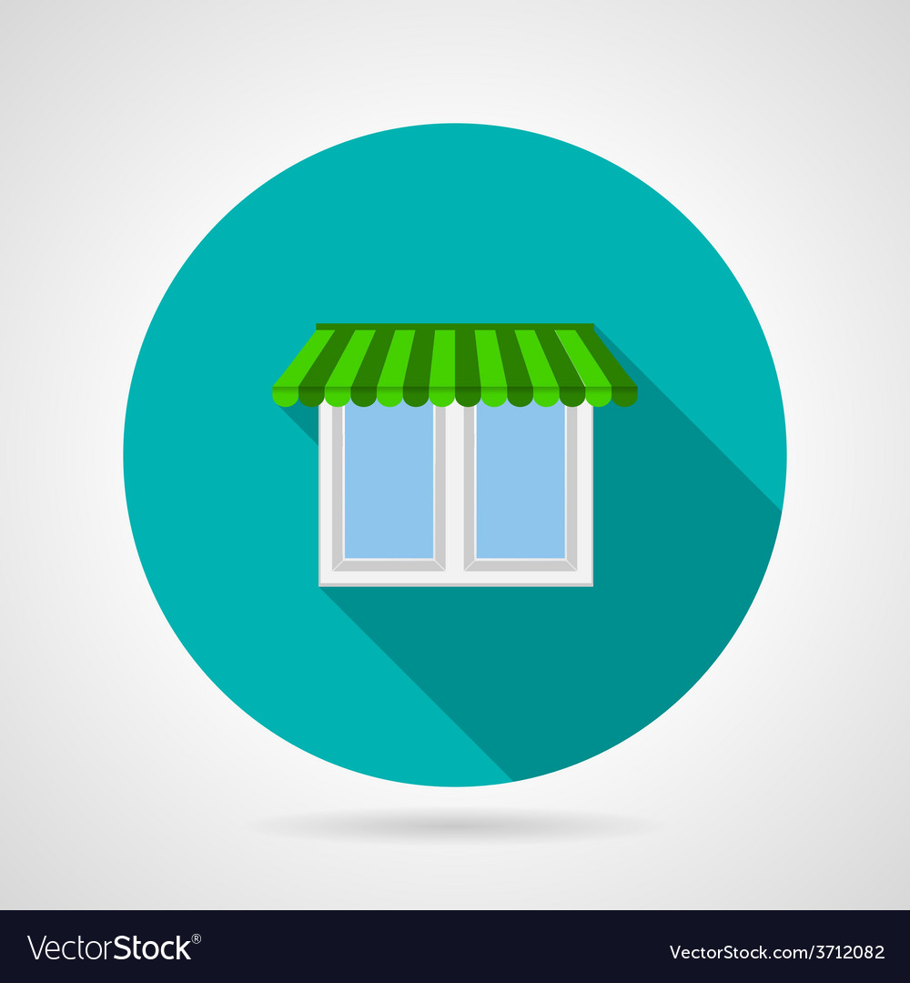 Window with canopy flat icon vector | Price: 1 Credit (USD $1)