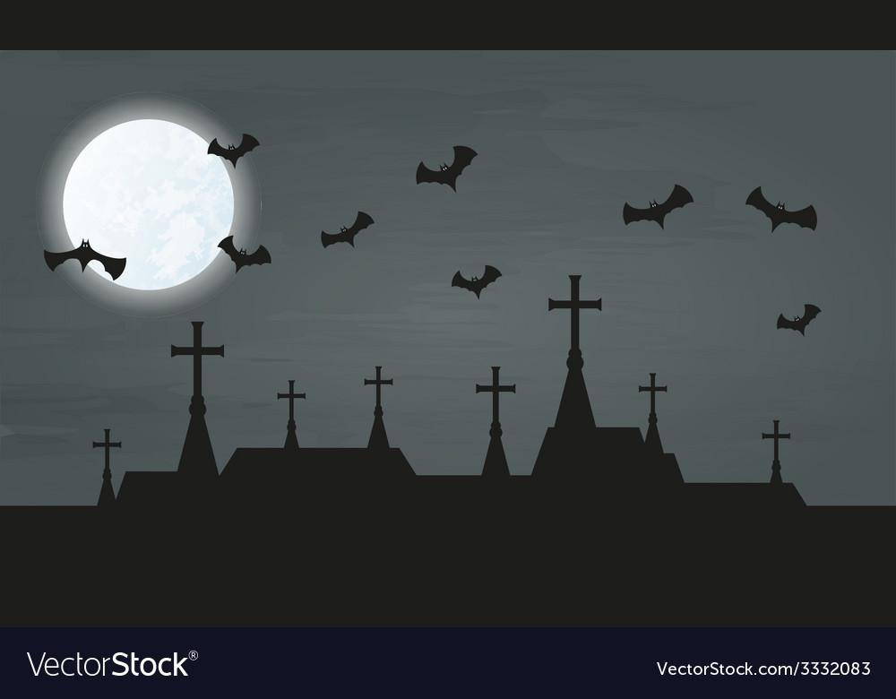 Bat and city vector | Price: 1 Credit (USD $1)