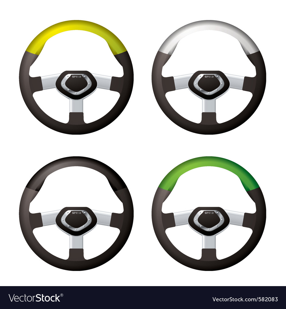 Car steering wheels vector | Price: 1 Credit (USD $1)