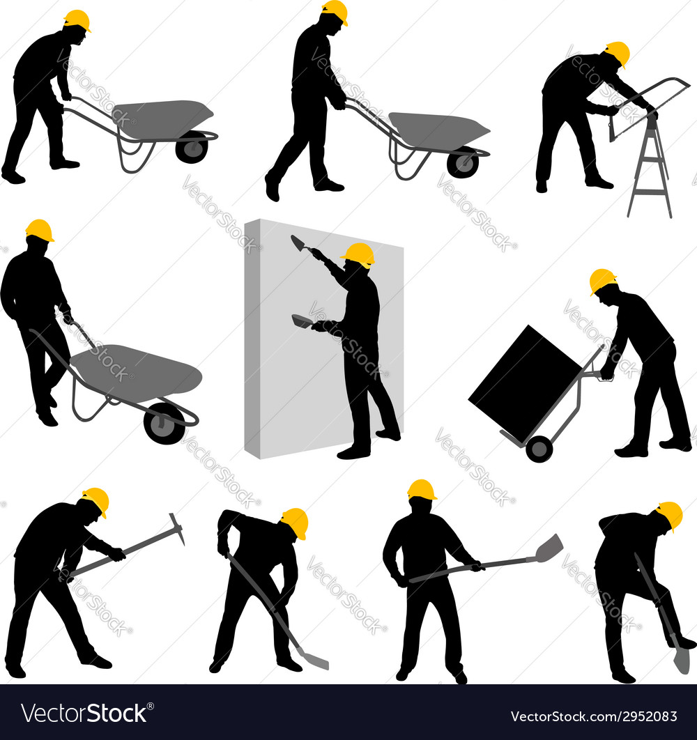 Construction workers 2 vector | Price: 1 Credit (USD $1)