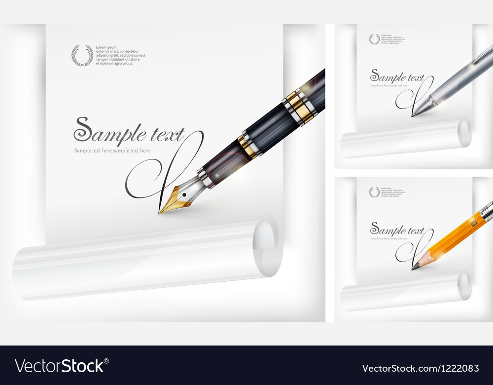 Fountain pen paper sheet vector | Price: 3 Credit (USD $3)