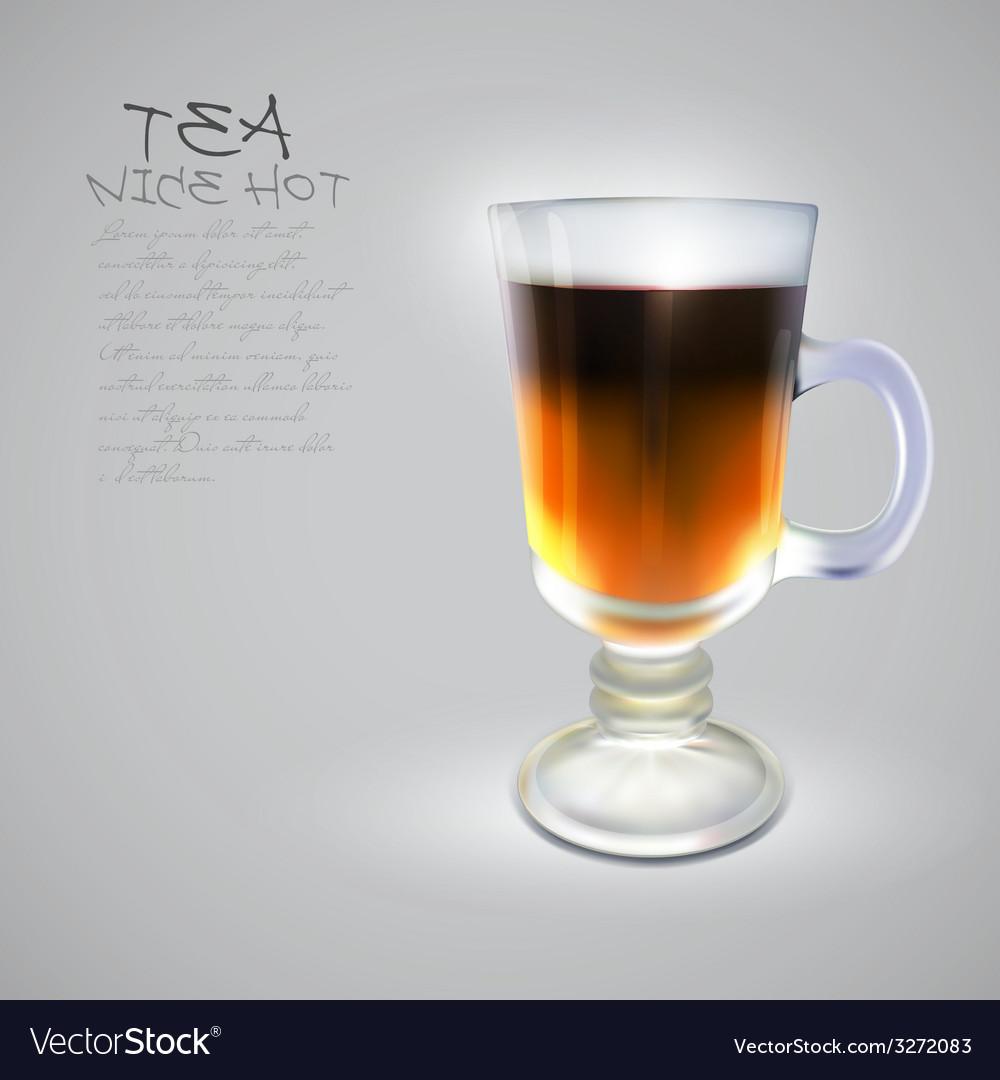 Hot tea vector | Price: 1 Credit (USD $1)
