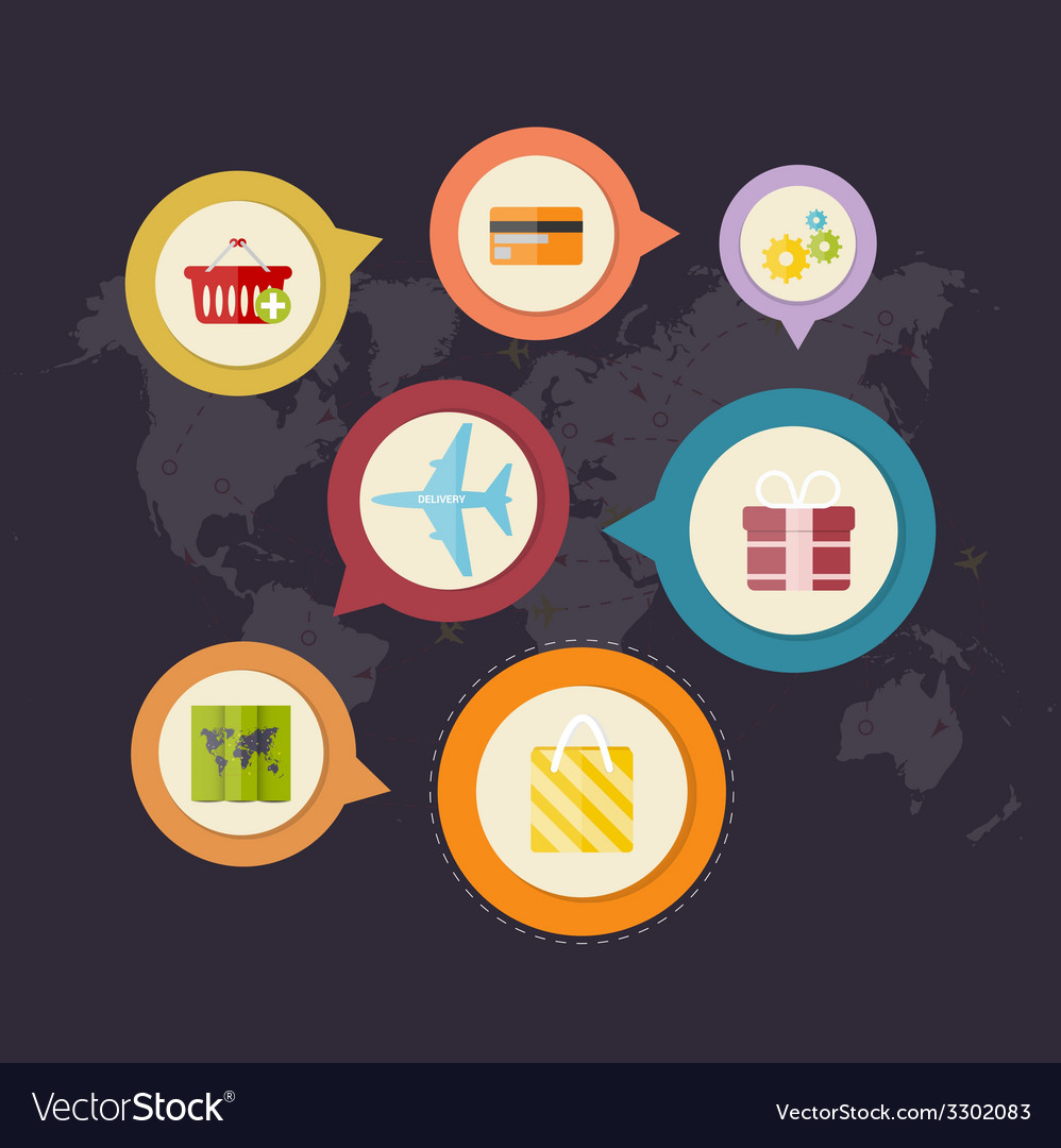 Infographics purchase and delivery of goods vector | Price: 1 Credit (USD $1)