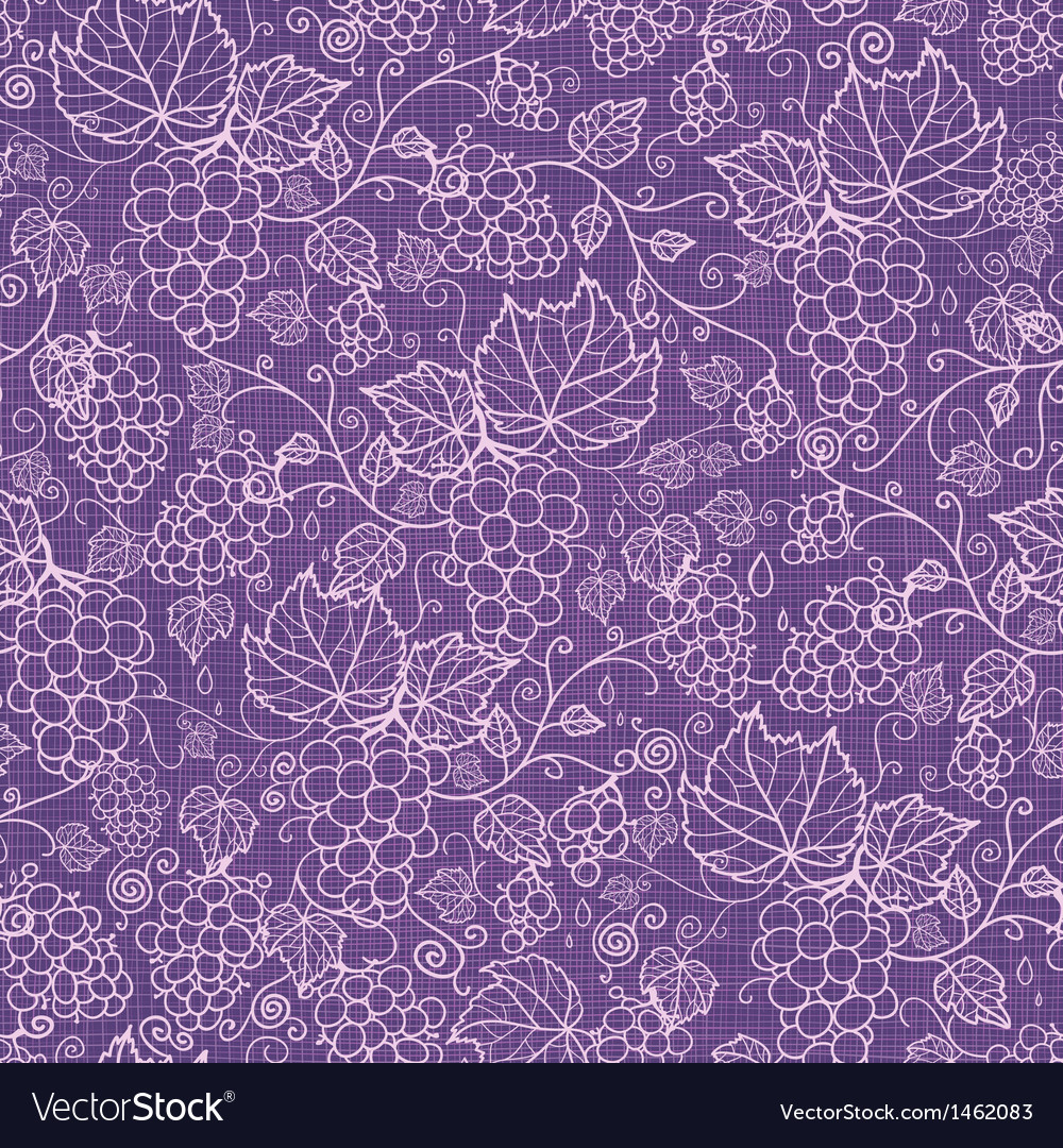 Lace grape vines seamless pattern background vector | Price: 1 Credit (USD $1)
