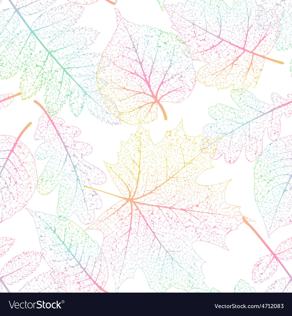 Leaf seamless abstract background eps 10 vector | Price: 1 Credit (USD $1)