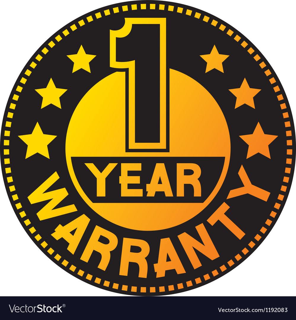 One year warranty vector | Price: 1 Credit (USD $1)