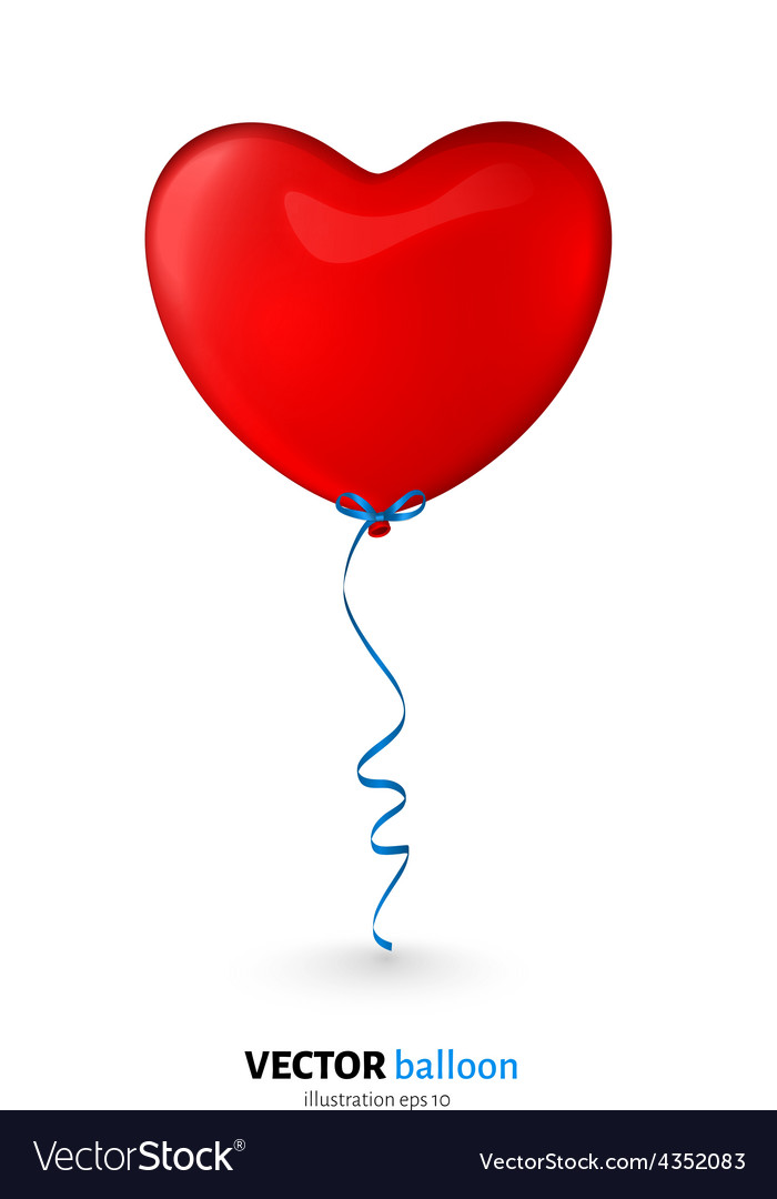 Party flying balloon with streamer isolated on vector   Price: 1 Credit (USD $1)