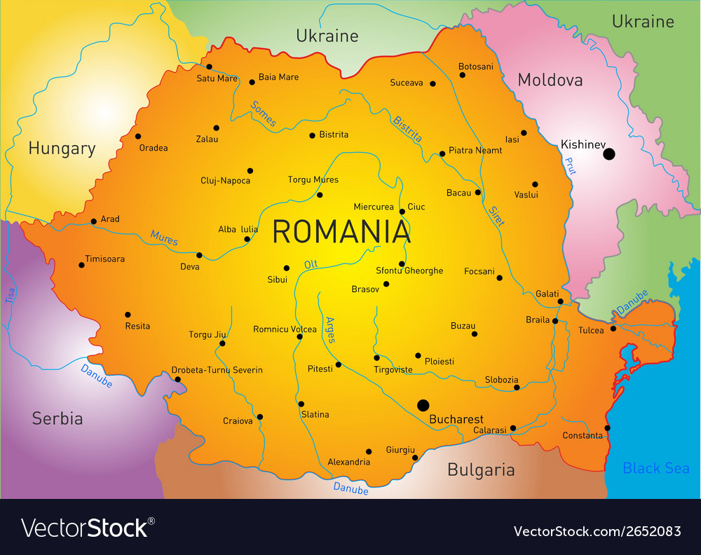 Romania vector | Price: 1 Credit (USD $1)