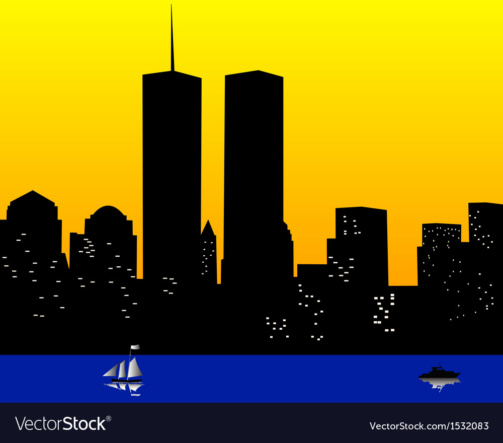 Twin towers in the united states of america vector | Price: 1 Credit (USD $1)