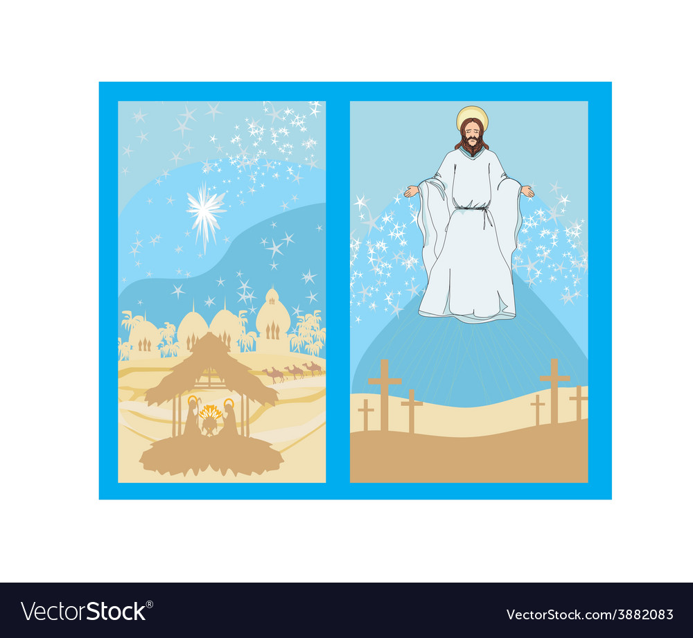 Two religious images - jesus christ bless and vector | Price: 1 Credit (USD $1)