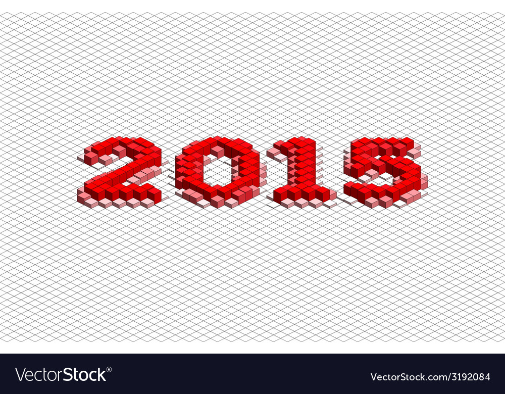 Abstract 3d year 2015 vector   Price: 1 Credit (USD $1)