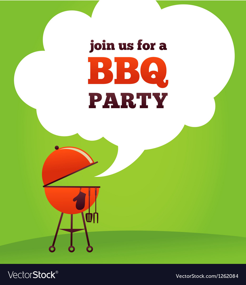 Bbq party invitation vector | Price: 1 Credit (USD $1)