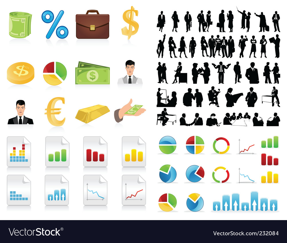 Business collection vector | Price: 1 Credit (USD $1)