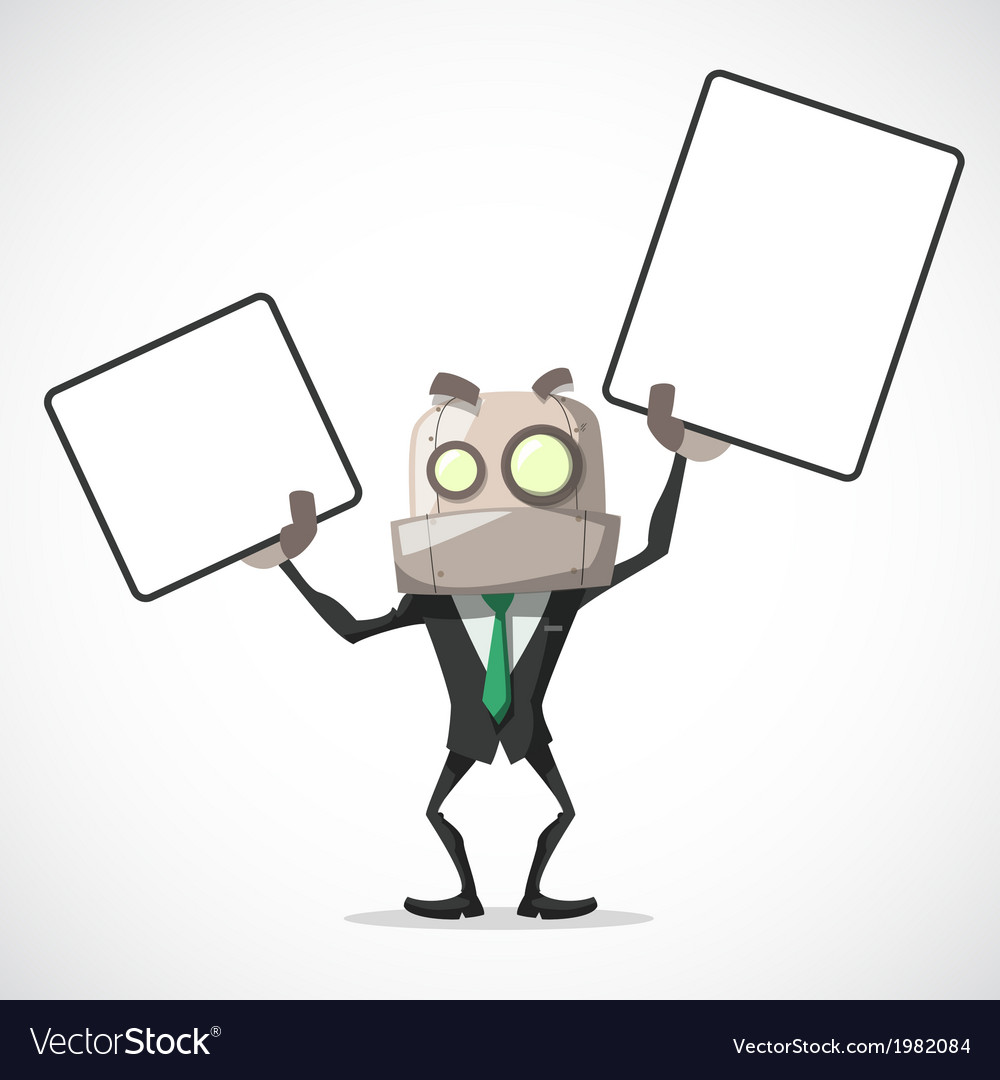 Businessman chart in hand vector | Price: 1 Credit (USD $1)