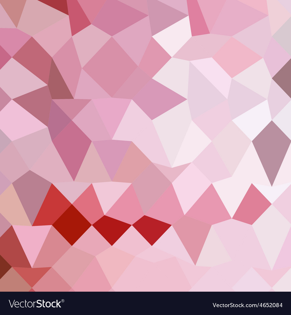Cameo pink abstract low polygon background vector | Price: 1 Credit (USD $1)