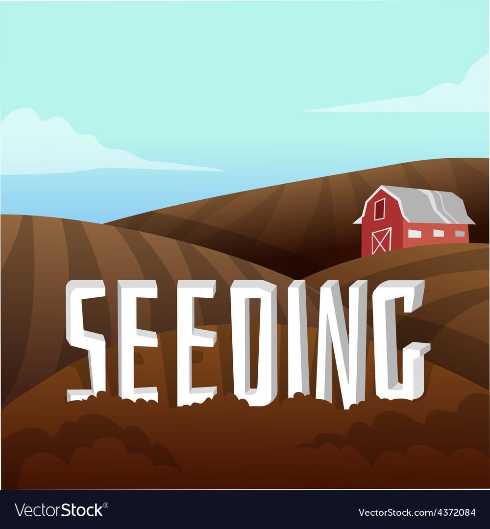 Farm landscape vector | Price: 1 Credit (USD $1)