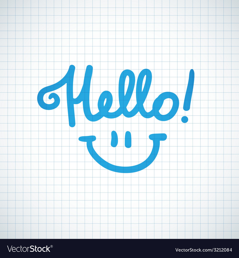 Hello lettering vector | Price: 1 Credit (USD $1)