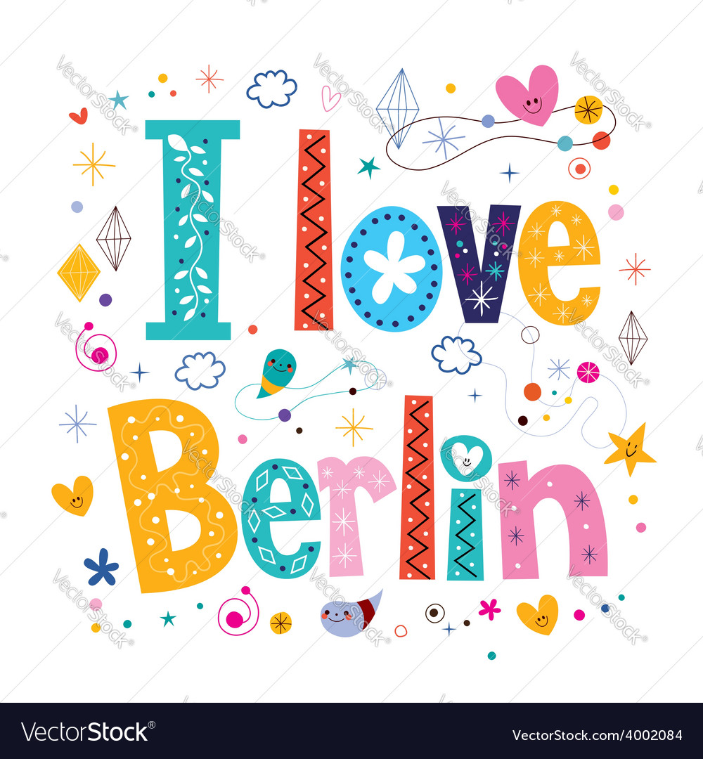 I love berlin vector | Price: 1 Credit (USD $1)