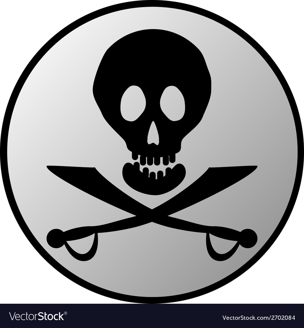 Jolly roger button vector | Price: 1 Credit (USD $1)