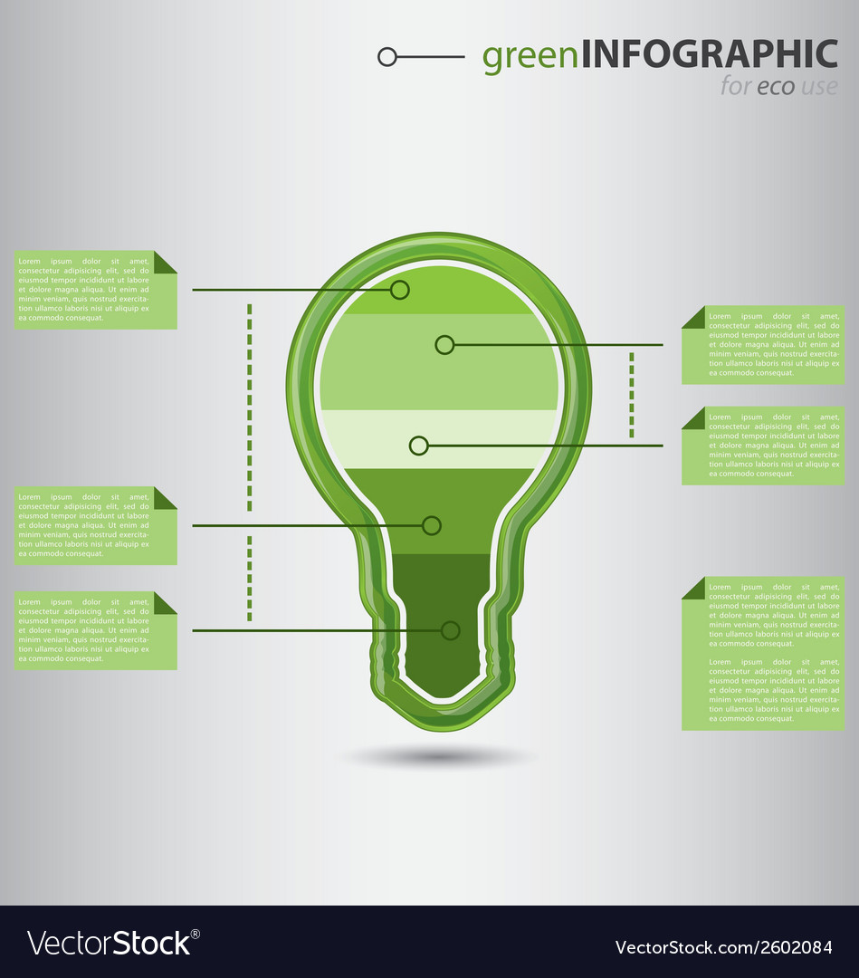 Modern green info graphic vector | Price: 1 Credit (USD $1)