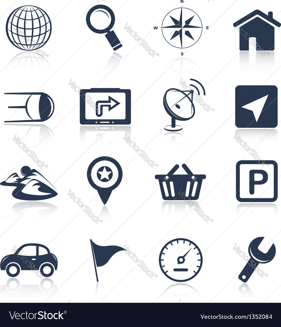 Navigation apps icons vector | Price:  Credit (USD $)