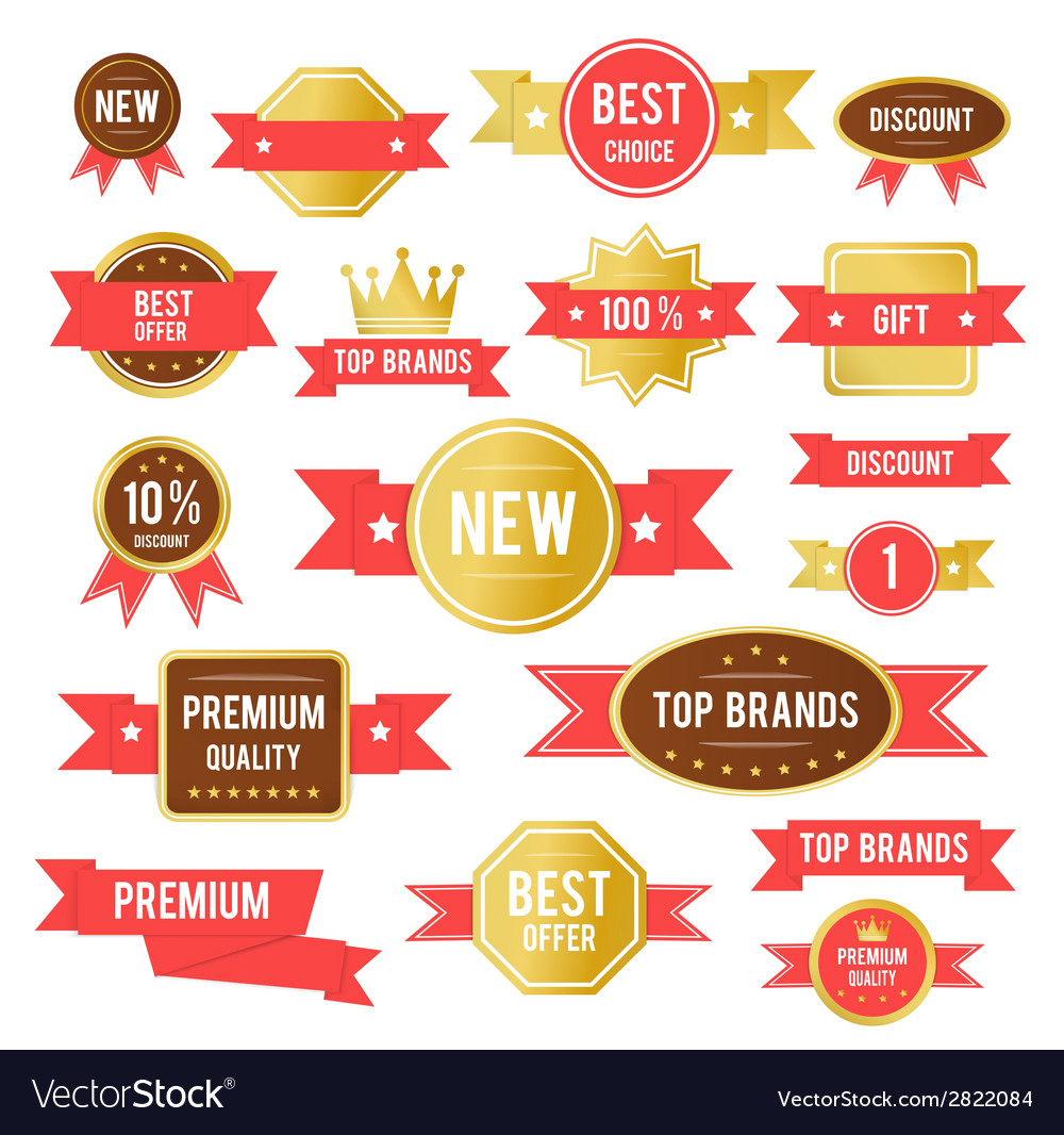 Red sticker vector | Price: 1 Credit (USD $1)