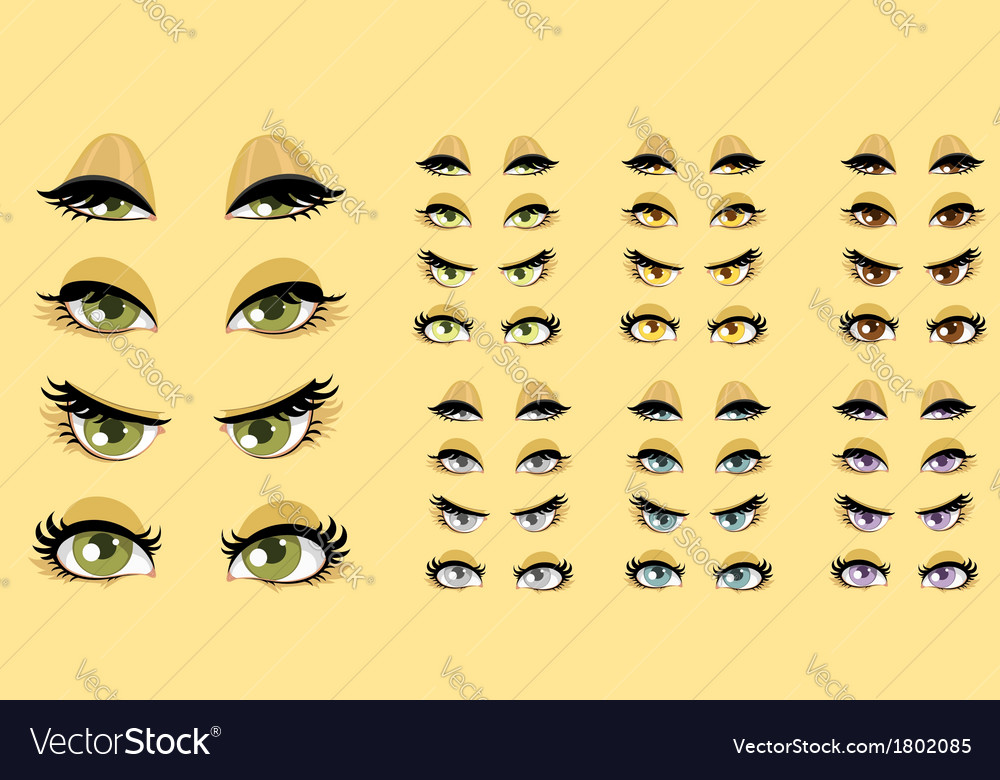Beautiful women eyes 1 vector | Price: 1 Credit (USD $1)