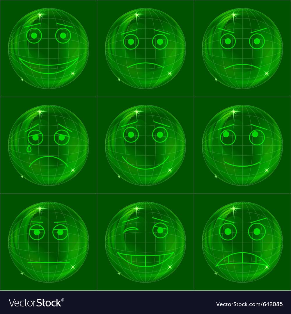 Digital smiles vector | Price: 1 Credit (USD $1)