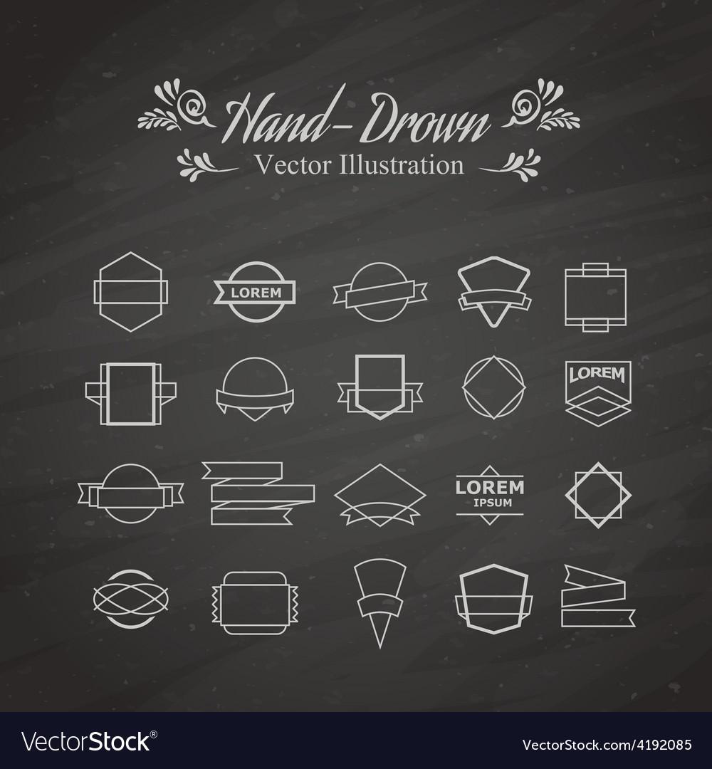 Emblem elements vector | Price: 1 Credit (USD $1)