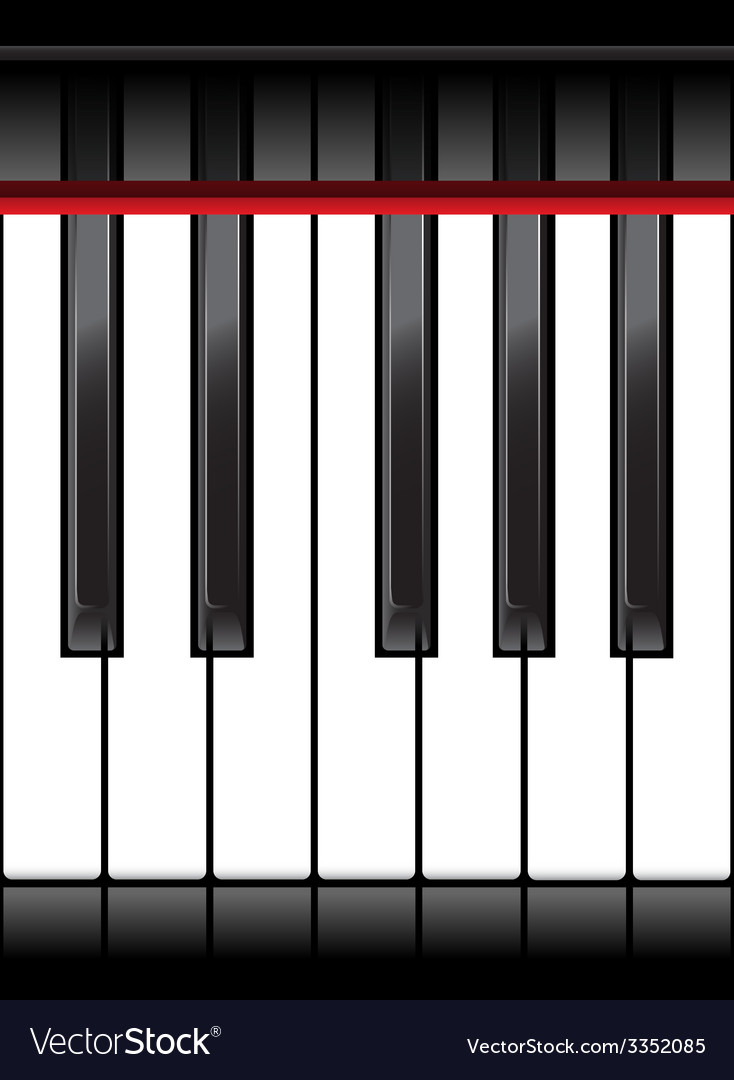 Piano octave vector | Price: 1 Credit (USD $1)