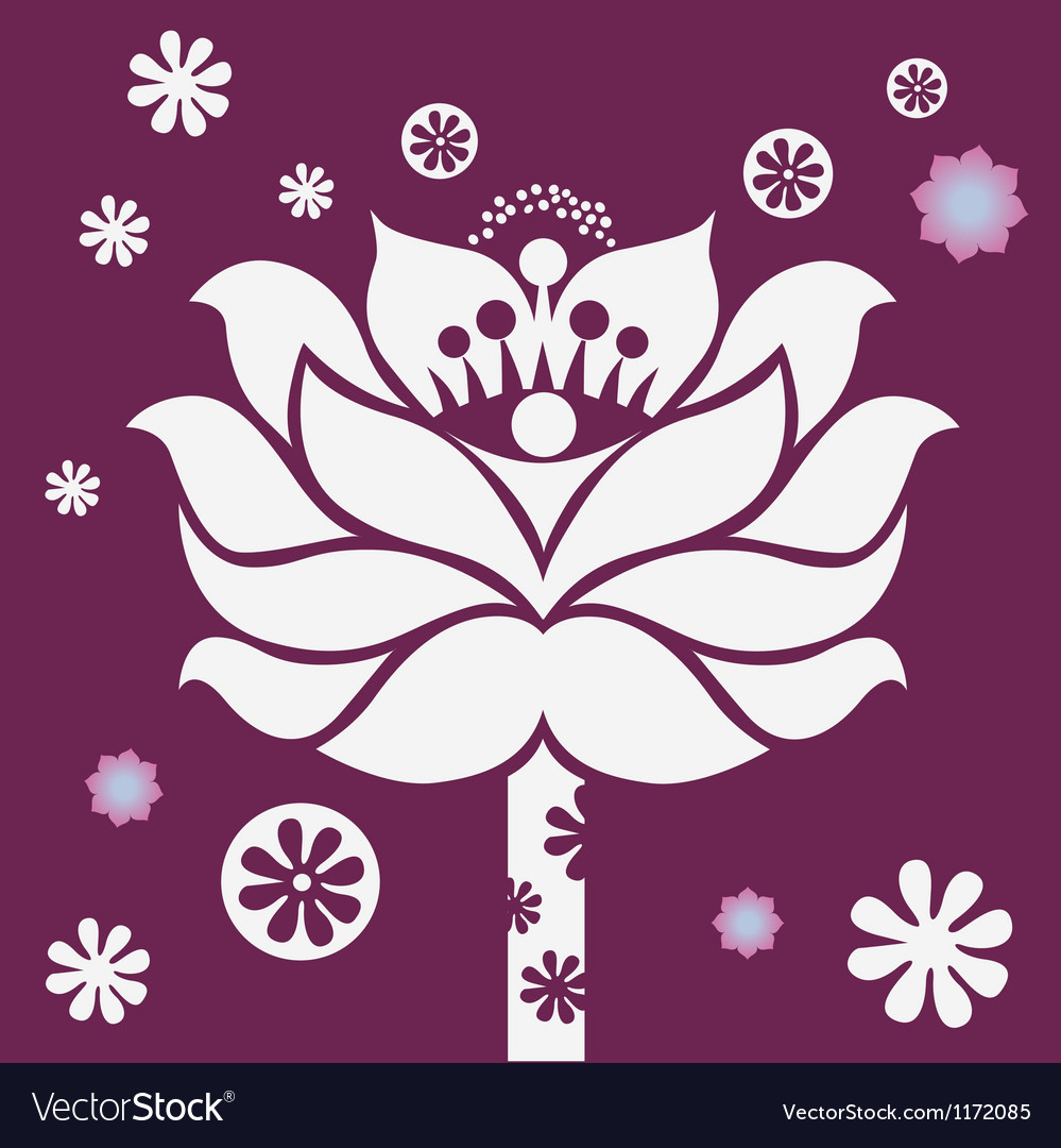 Purple blossom vector | Price: 1 Credit (USD $1)