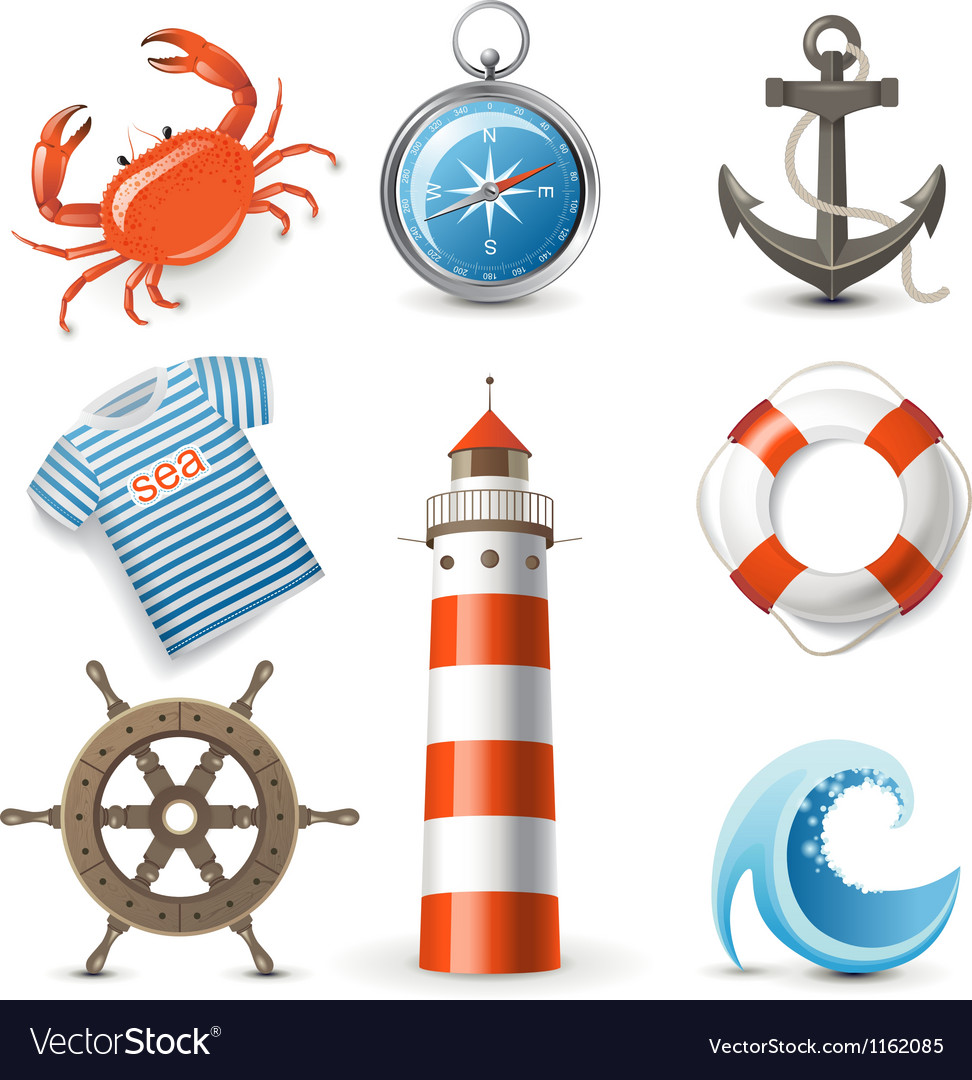 Sea icons vector | Price: 1 Credit (USD $1)