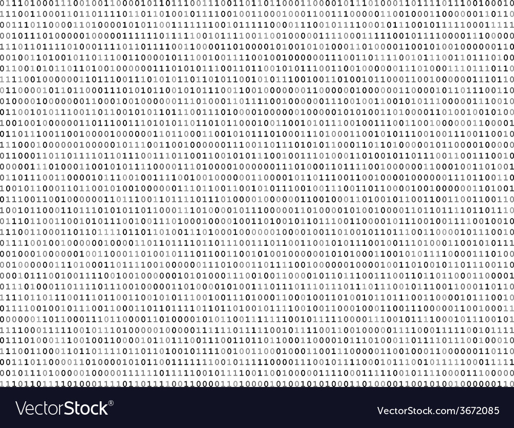 Sheet of binary codes vector | Price: 1 Credit (USD $1)