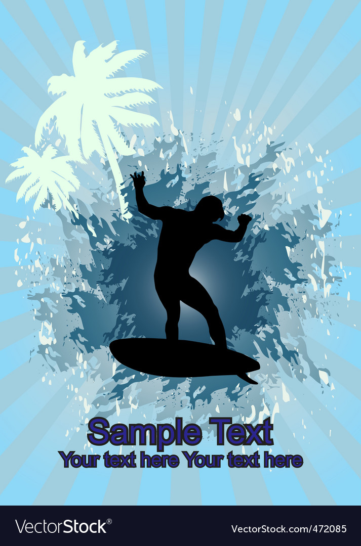 Surfing vector | Price: 1 Credit (USD $1)