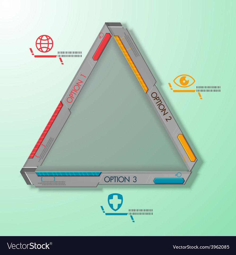 Technology triangle abstract steel machine vector | Price: 1 Credit (USD $1)