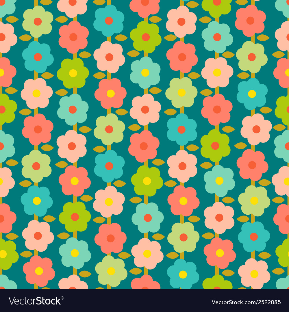 Vintage seamless pattern with small flowers vector | Price: 1 Credit (USD $1)