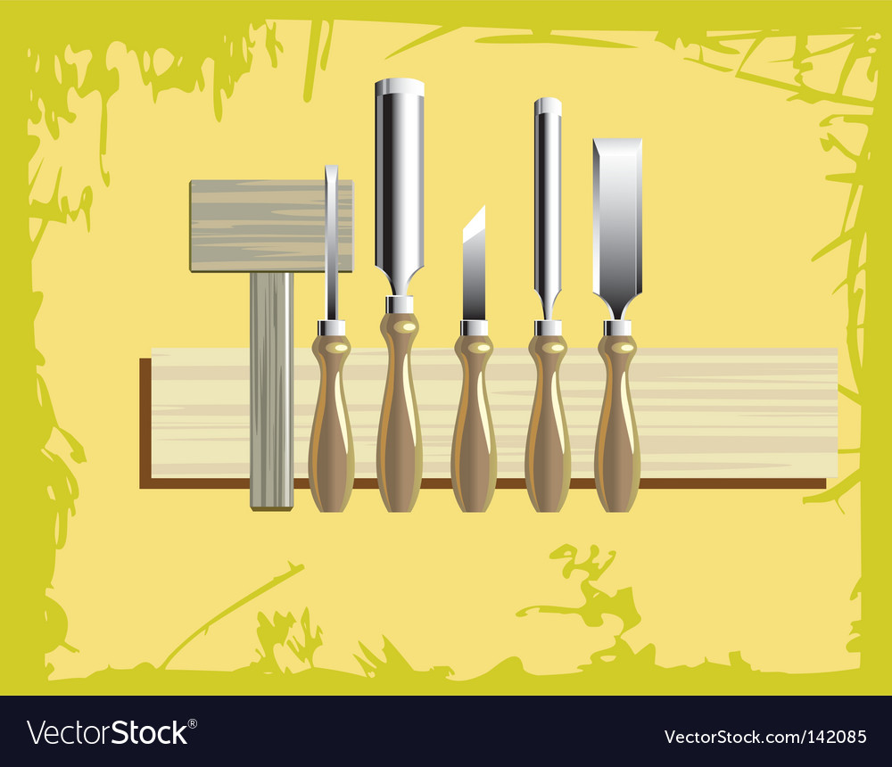 Woodcarving tools vector | Price: 1 Credit (USD $1)