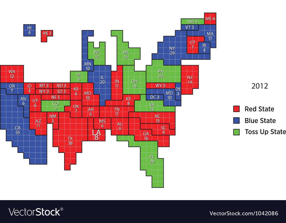 2012 proportional electoral map vector | Price: 1 Credit (USD $1)