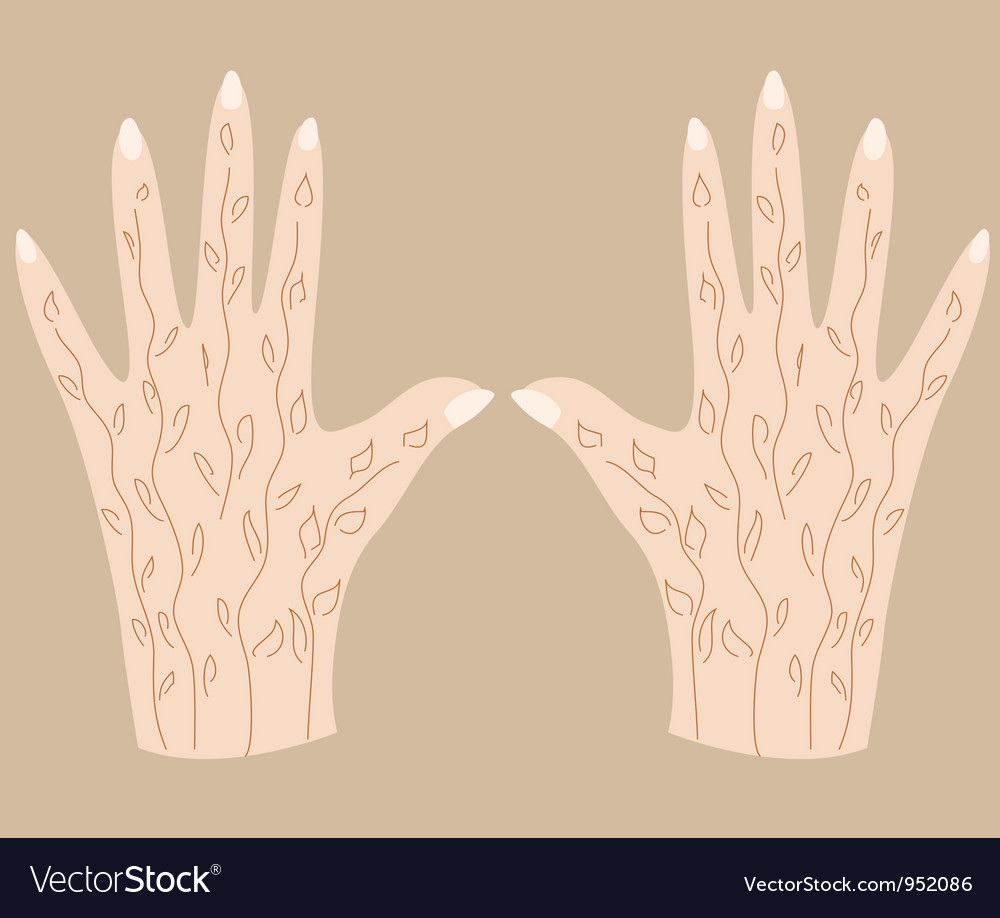 Hands with henna 3 vector   Price: 1 Credit (USD $1)
