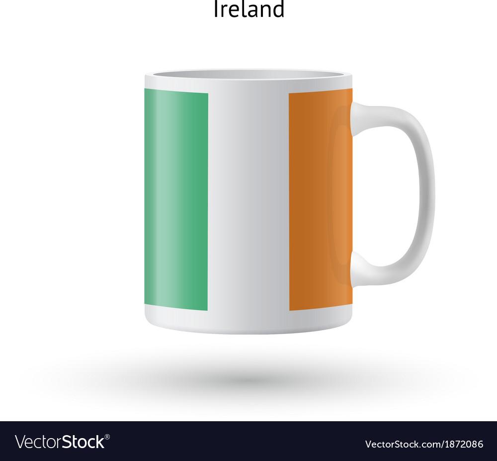 Ireland flag souvenir mug on white background vector | Price: 1 Credit (USD $1)