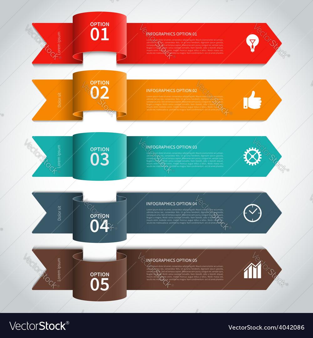Modern arrow infographics elements vector | Price: 1 Credit (USD $1)